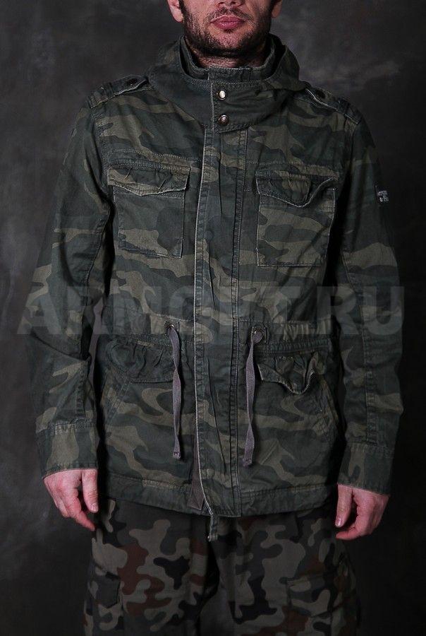 62c0bfef982 Куртка A F облегченная с капюшоном woodland green — купить в Москве ...