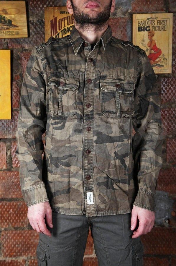 fd518f67d53 Рубашка A F Camo Military woodland — купить в Москве по цене 3400 ...